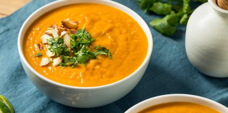 Soupe butternut patate douce carotte