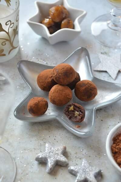 Truffes chocolat et marrons glacés
