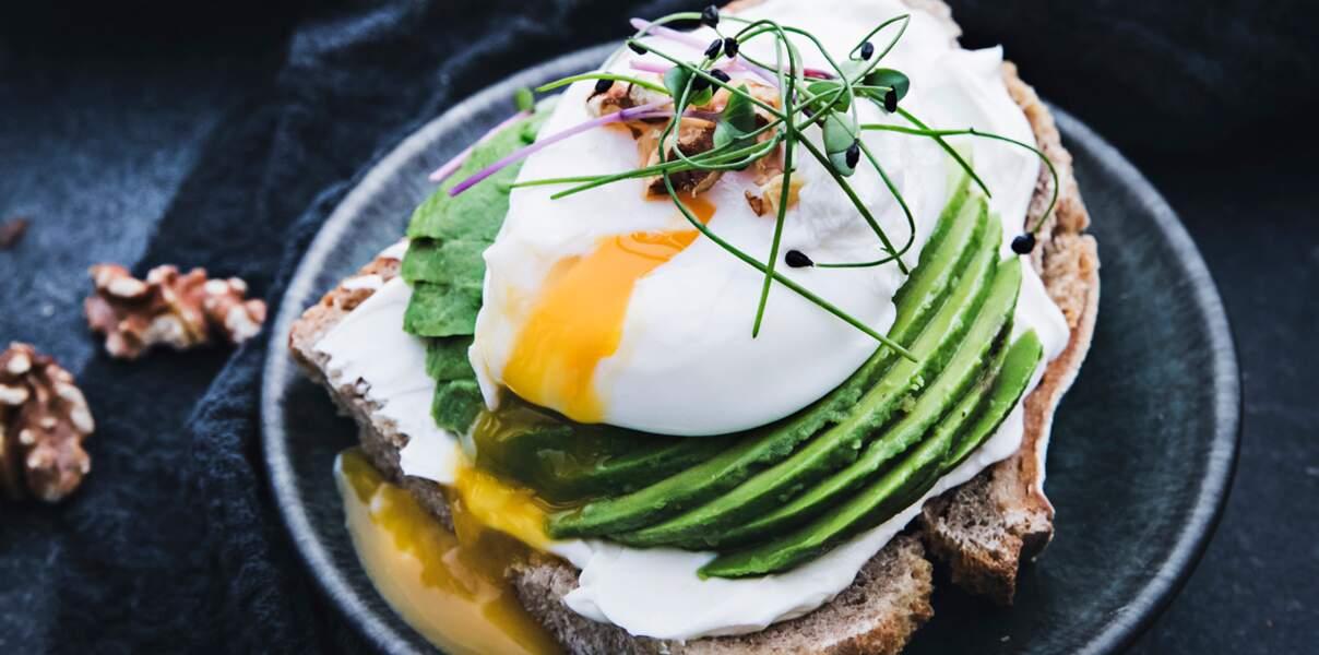 Tartine à l'œuf mollet, façon avocado toast