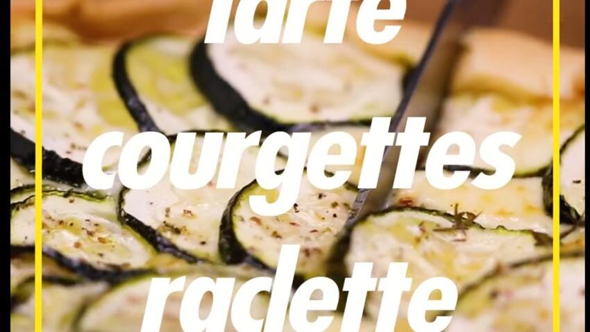 Tarte courgettes raclette : la recette en vidéo