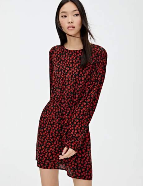 Tendance robe imprimée : rouge passion