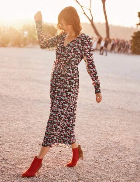 tendance robe imprimée : champêtre