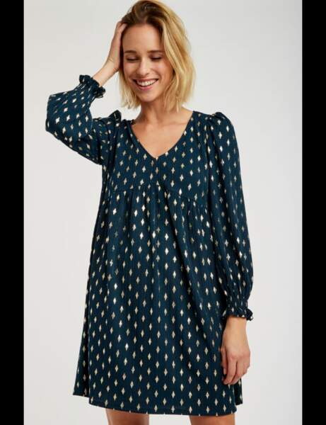 Tendance robe imprimée : scintillante