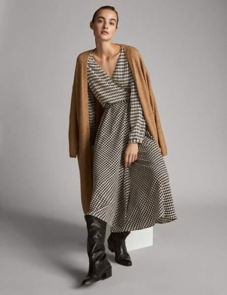 Tendance robe imprimée : pied-de-poule