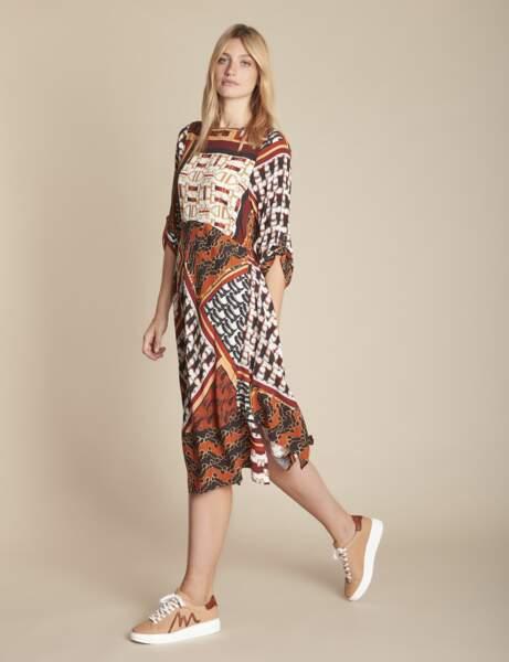 Tendance robe imprimée : foulard