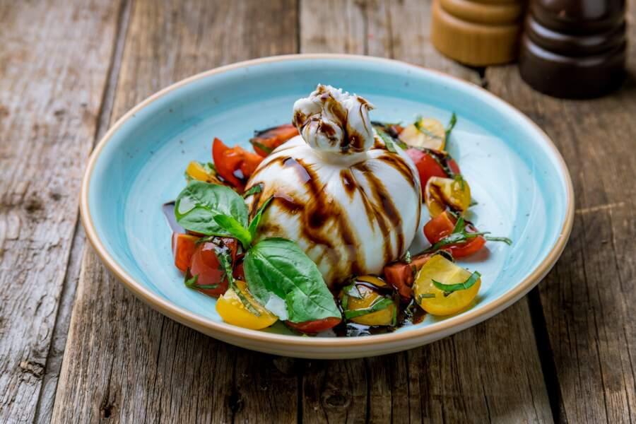 Burrata à la tomate facile