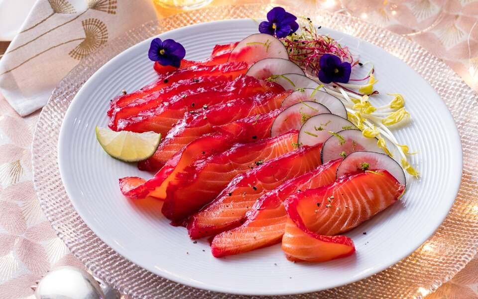Saumon rubis gravlax