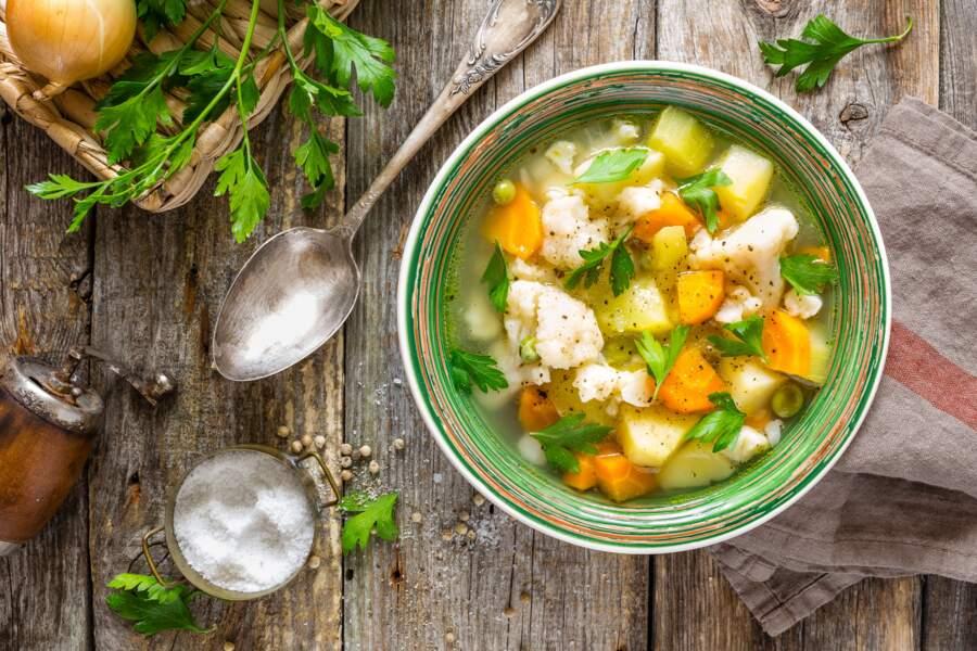 Privilégiez la soupe de légumes maison