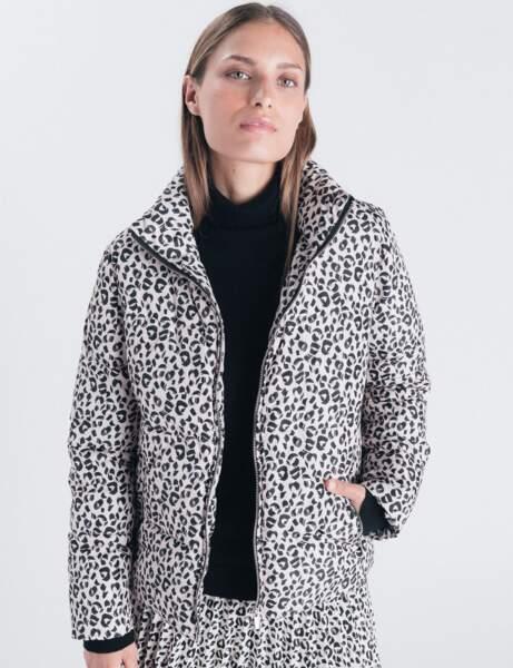 Doudoune tendance: léopard