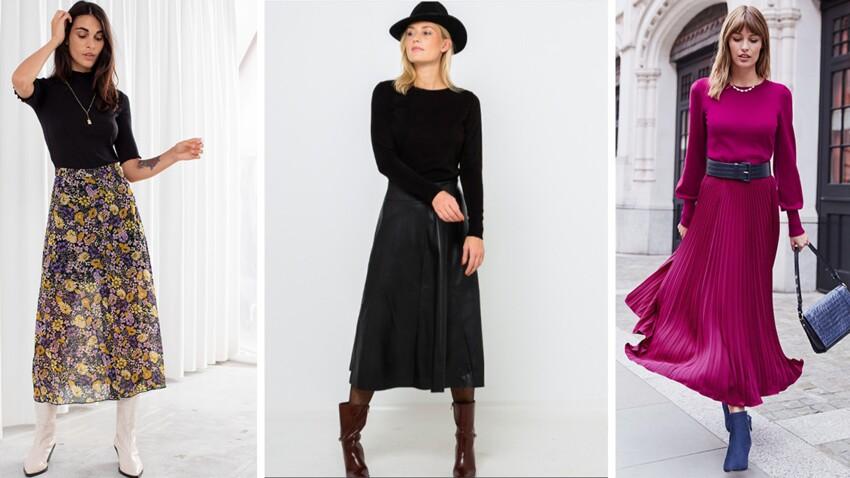 Tendance jupe midi : 15 modèles chics et décontractés à shopper pendant les soldes !