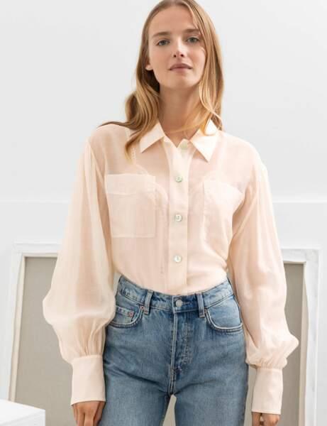 Soldes d'hiver : la chemise transparente