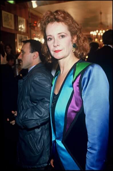 Dominique Lavanant alias Christiane l'esthéticienne à la soirée des César en 1989