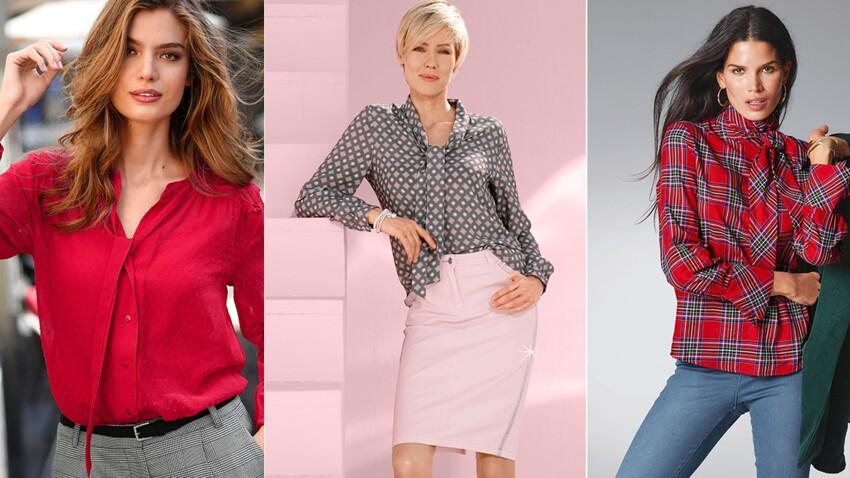 Bien porter la blouse à col lavallière après 50 ans