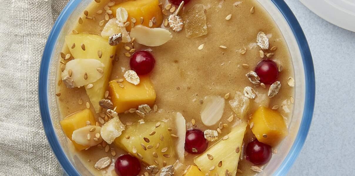 Smoothie bowl aux fruits