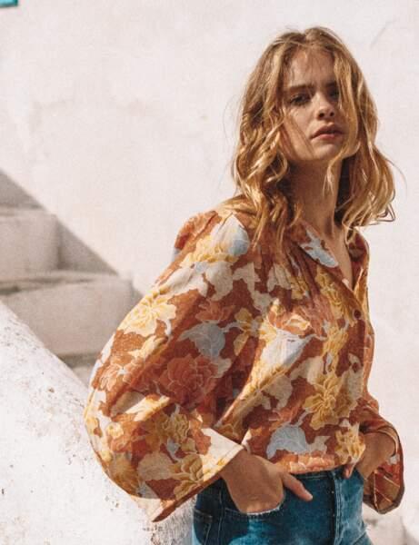 Tendance petit haut  : la chemise à fleurs