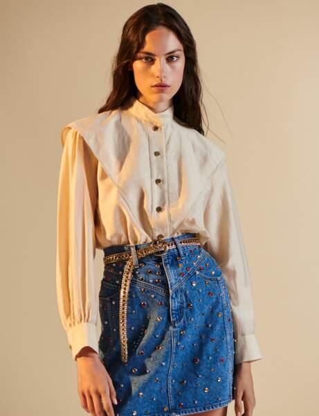 Tendance petit haut  : le chemisier couture