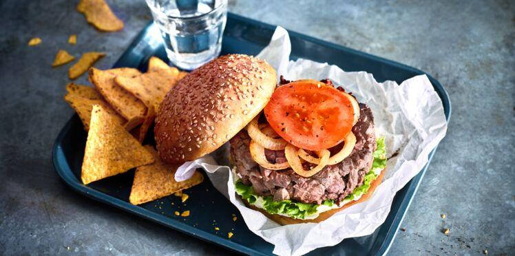 Burger de cœur de bœuf aux notes libanaises