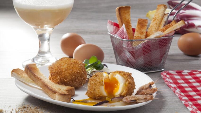 Œufs mollets frits saveur d'Ostende