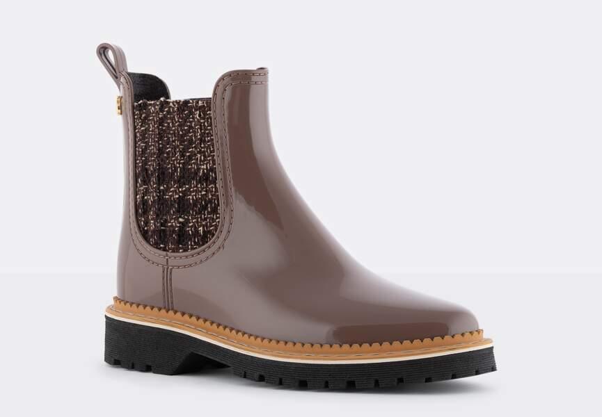 Chaussures d'hiver : les boots de pluie chic