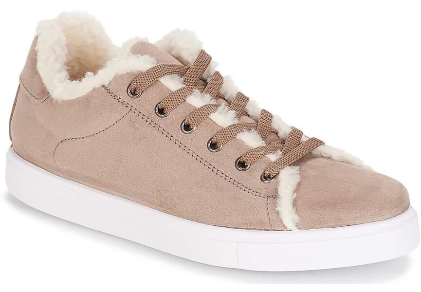 Chaussures d'hiver : les baskets acidulées
