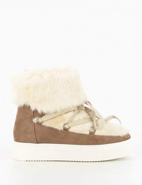 Chaussures d'hiver : les bottines blanc comme neige