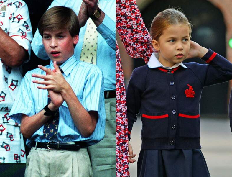 Le prince William et la princesse Charlotte, même expression de sérieux.