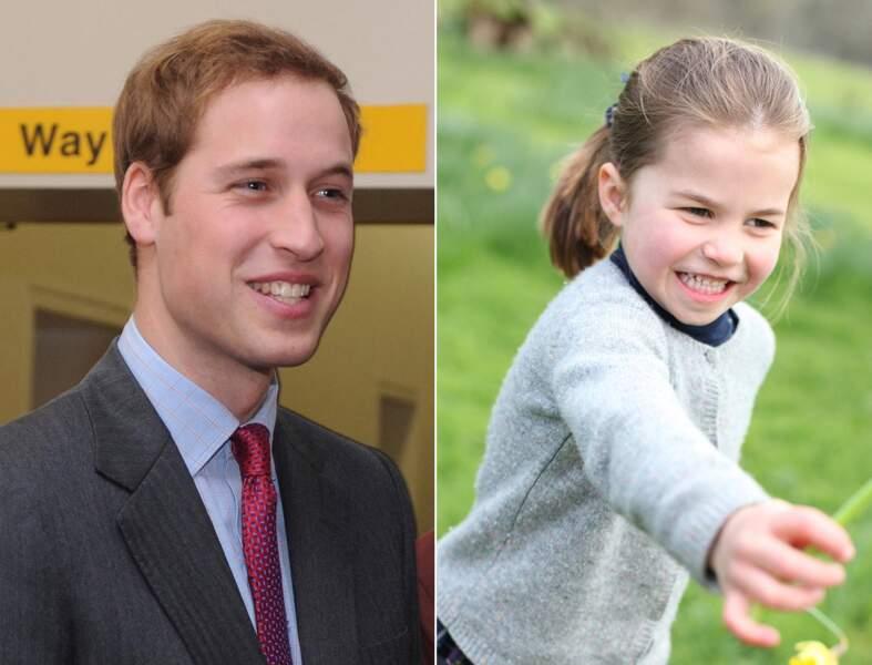 Le prince William et la princesse Charlotte avec le même sourire d'enthousiasme.