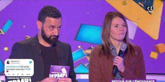 """""""TPMP"""" : Cyril Hanouna fait fondre en larmes Camille, la candidate des """"12 coups de midi"""" atteinte d'un cancer"""