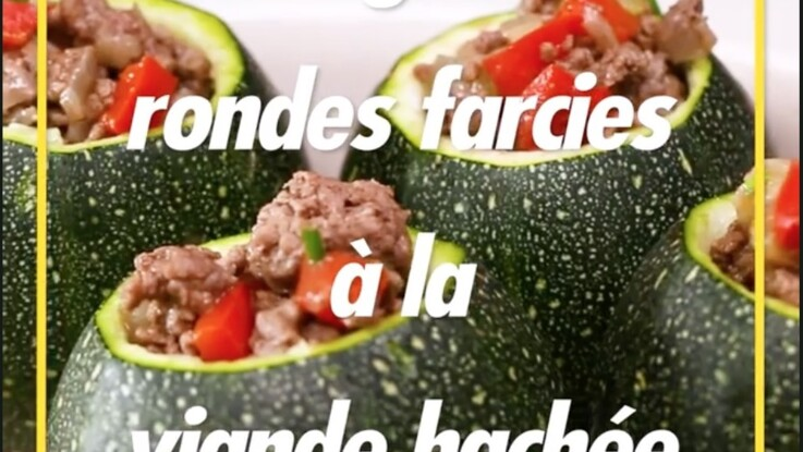 Courgettes rondes farcies au boeuf haché : la recette en vidéo