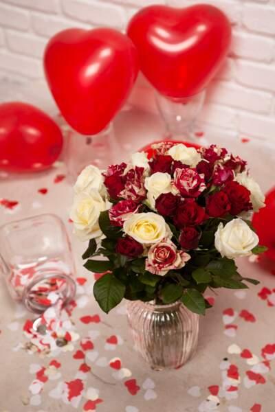 Bouquet de roses - Aquarelle