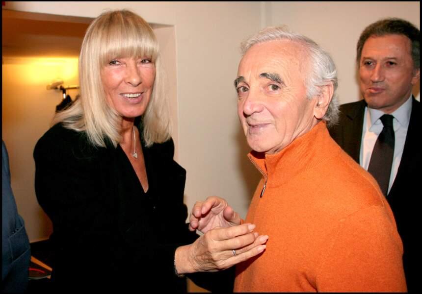 Dany Saval, Michel Drucker et Charles Aznavour