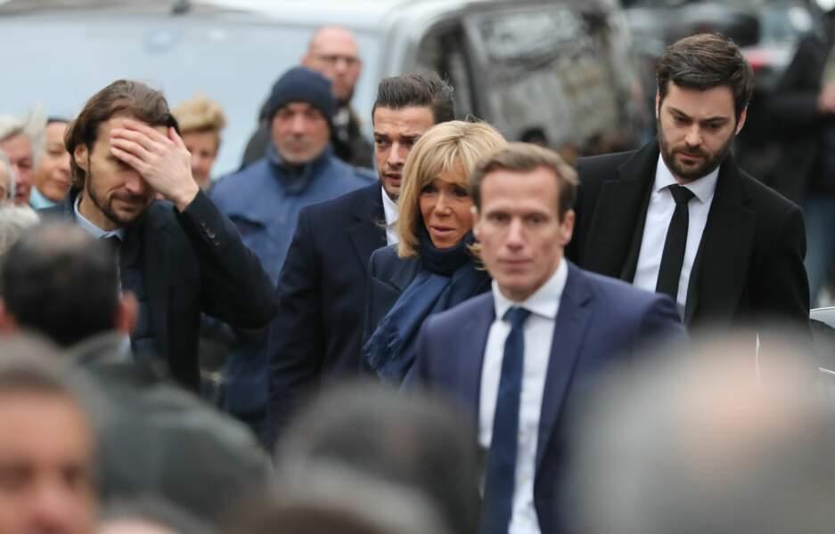 Brigitte Macron et Tristan Bromet, son chef de cabaret. La première dame est amiénoise comme Michou.