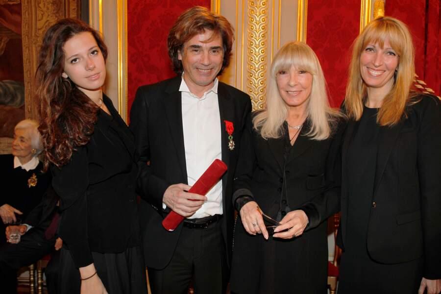 Michel Drucker, Dany Saval, sa fille Stephane Jarre et sa soeur.