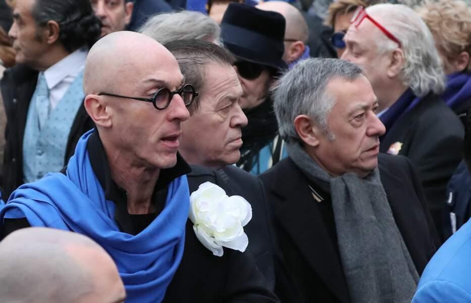 """Le compagnon de Michou, Erwann Toularastel et Oscar Loup, le directeur artistique du cabaret """"Chez Michou"""""""