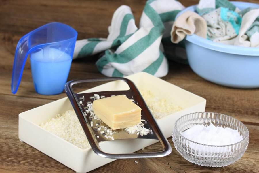 La recette de la lessive liquide au savon de Marseille