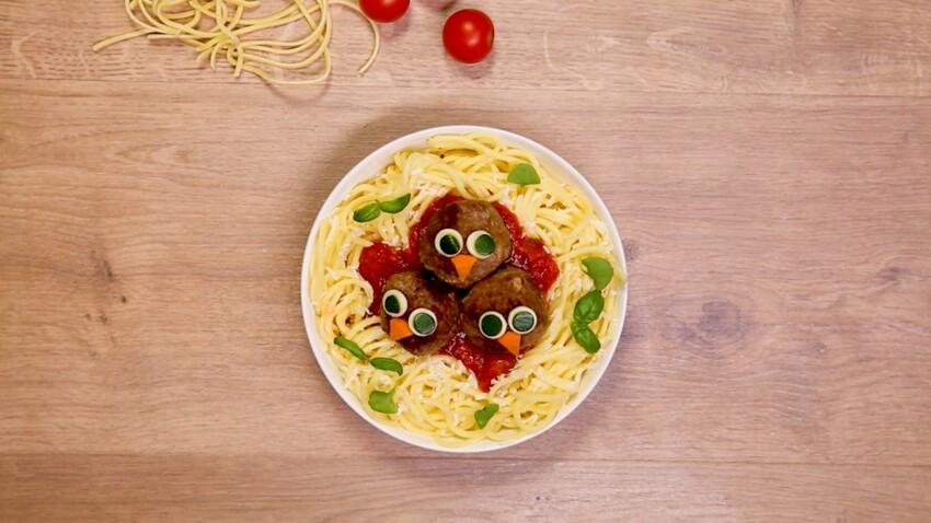 Nid douillet de spaghetti bolognaise : la recette en vidéo
