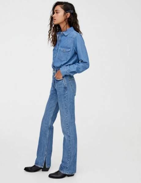 Tendance jean : le fendu