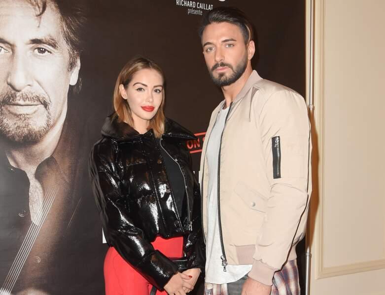 """Le couple à la représentation """"An evening with Al Pacino"""" au théâtre de Paris"""