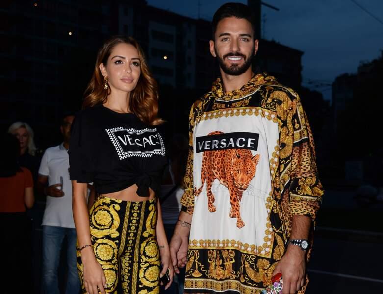 Le couple au défilé Versace