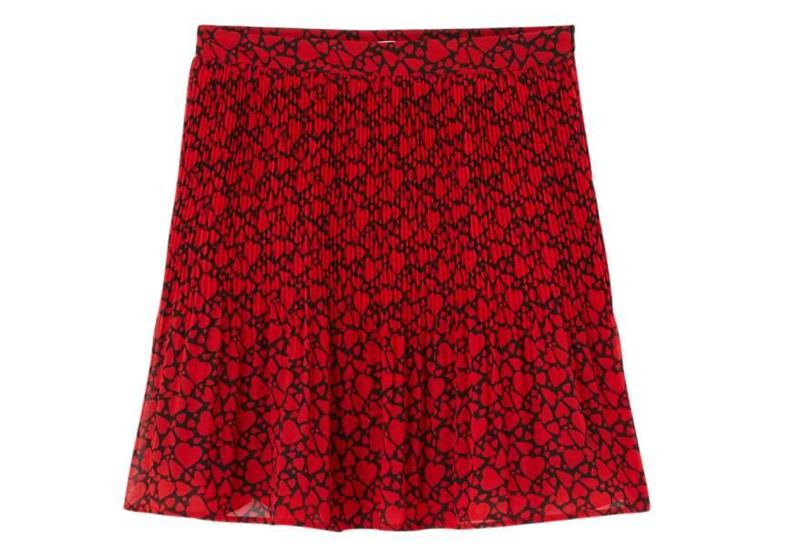 Saint-Valentin : la jupe plissée de Camaïeu