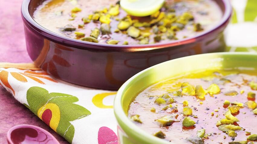 Crème brulée aux éclats de pistache