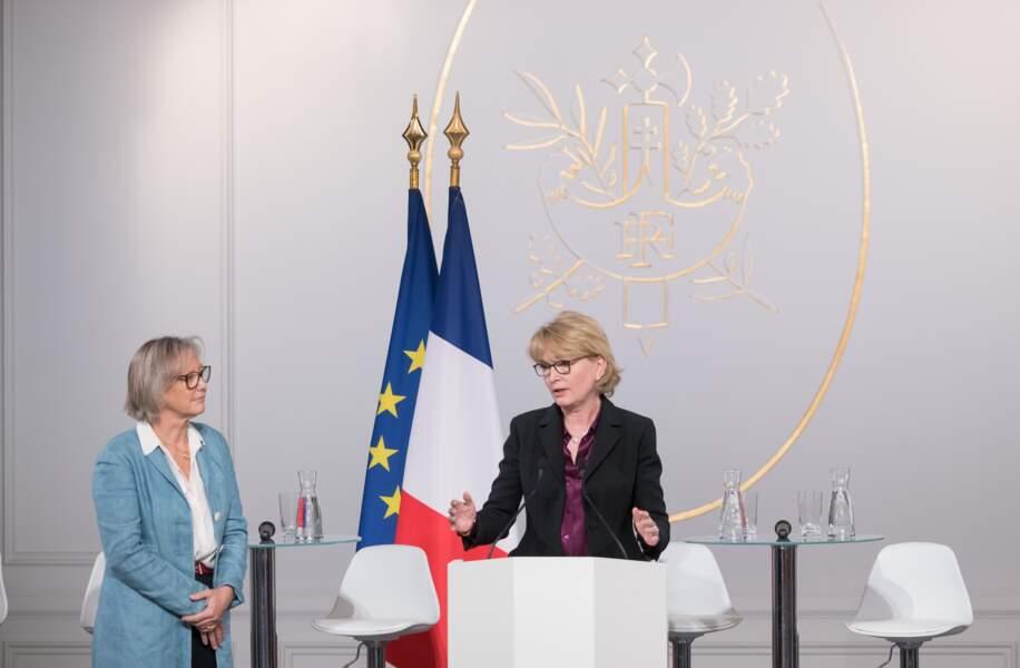 Pendant son discours, elle a évoqué les engaments de Jacques Chirac.