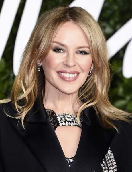 La frange rideau de Kylie Minogue