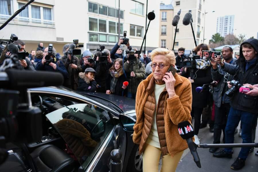 Isabelle Balkany vient chercher son mari Patrick Balkany libéré de la prison de la Santé le 12 février 2020.