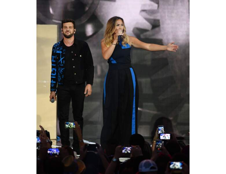 Vitaa avec le chanteur Claudio Capeo en 2018