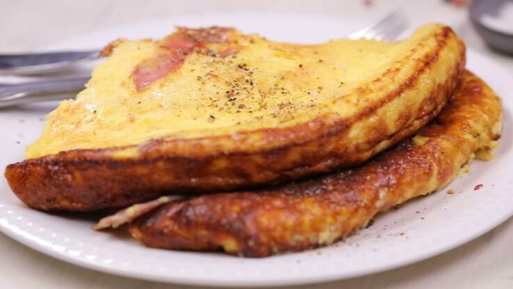 Omelette au jambon gourmande : la recette simple en vidéo