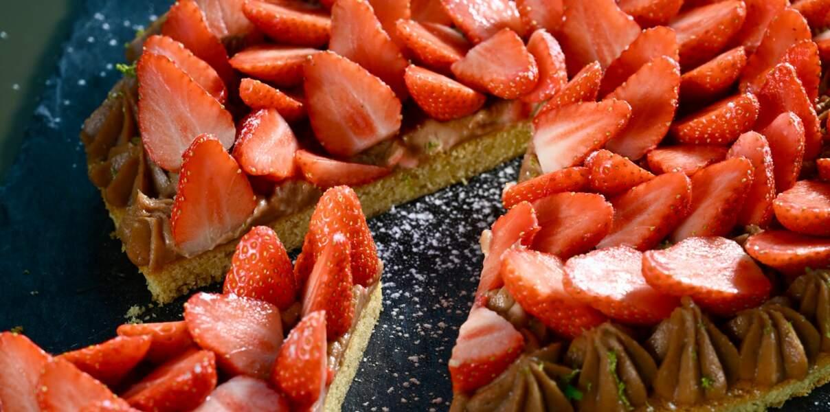 Tarte aux fraises gariguettes