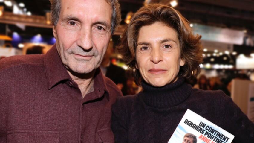 Photo- Anne Nivat et Jean-Jacques Bourdin complices et amoureux : ils posent ensemble à Val d'Isère