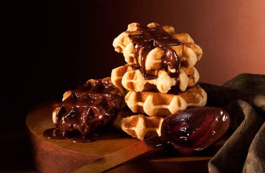 Gaufres liégoises au chocolat