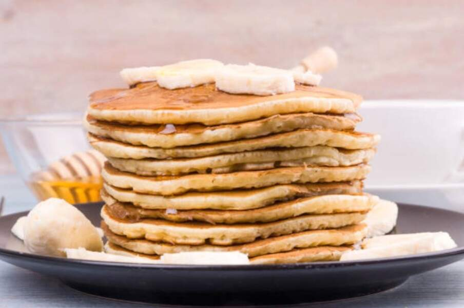 Pancakes à la banane sans sucre ni matières grasses ajoutés